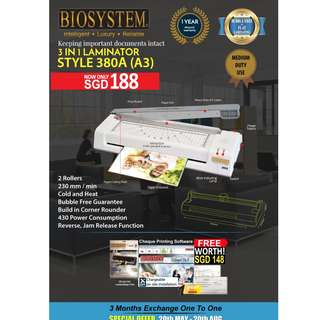 BIOSYSTEM Laminators Style 380A HOT SALES PROMOTION!!!