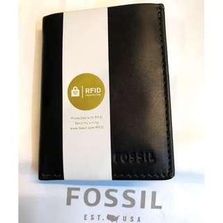 Fossil wallet 銀包 男裝真皮銀包 Leather wallet