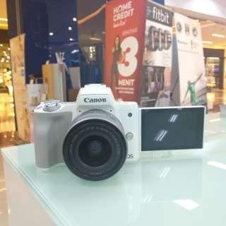 Camera canon M50 New Dp 0% Bisa Dicicil Tanpa Kartu kredit