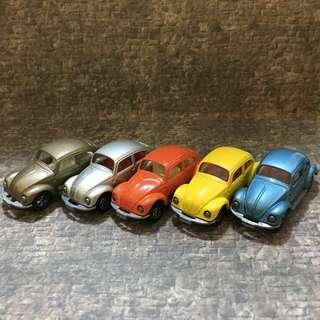 Tomica Tomy Beetle 甲蟲車 日本制 一套五架