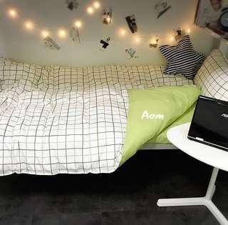 🚚 耐看實搭 格款床包組 被單 枕套 床單 學生宿舍床墊 加大床墊 宜家 居家裝飾