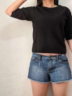 牛仔短褲#五十元好物
