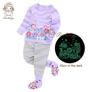Kids Pyjamas Floral Glow in the dark Set