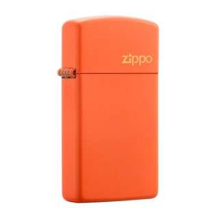 Authentic Zippo Lighter - SLIM Orange Matte with ZIPPO Logo 1631ZL