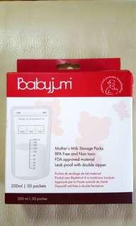 BabyJumi Mother's  Milk Storage Packs