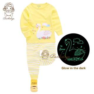 Kids Pyjamas Swan Glow in the dark Set
