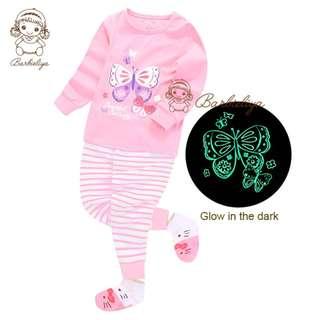 Kids Pyjamas Butterfly Glow in the dark Set
