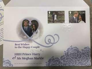 哈里梅根訂婚紀念蓋印首日封