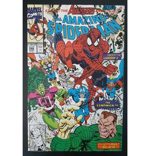 Amazing Spider-Man #348 (1991, 1st Series) Guest-starring the Avengers!