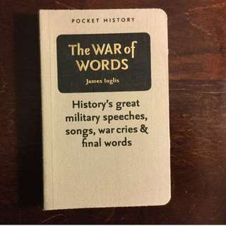 War of Words: History's Great Military Speeches, Songs, War Cries Literary Gift #cheapaschips