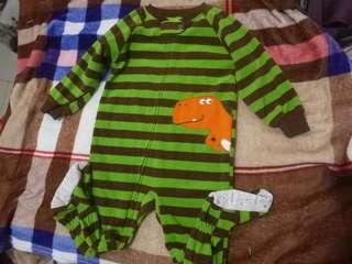 Green stripes dinosaur
