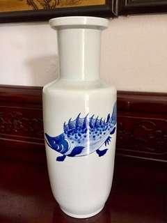 Elegant Large Blue Underglazed Vase