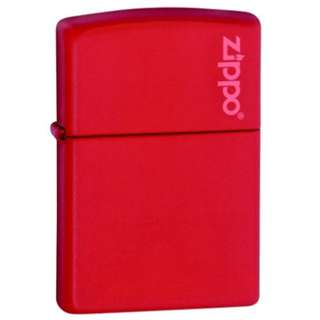 Zippo Lighter(Authentic) /Red Matte with Zippo Logo/windproof lighter/233ZL