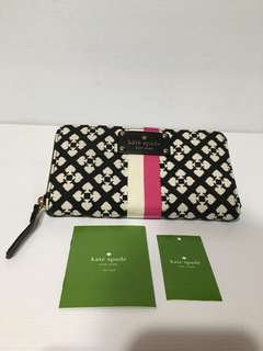 Preloved Kate Spade Classic Wallet Black Cream