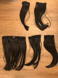 Hair extension pieces