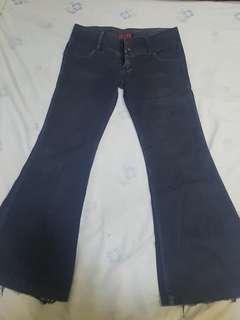 YRYS Black Flared Lowrise Jeans