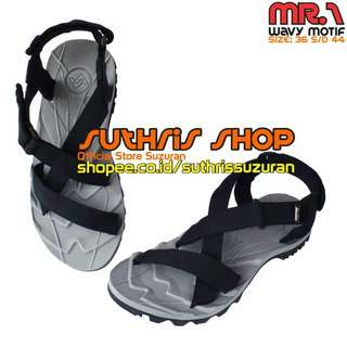 Sandal Gunung Suzuran Cross Mr1 Grey w Black