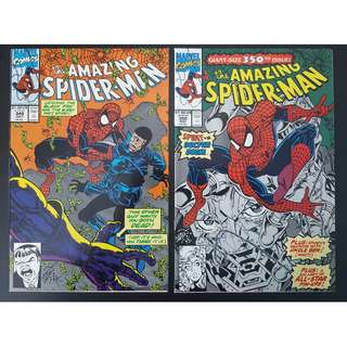 Amazing Spider-Man #349,#350 (1991, 1st Series) Set of 2, Spider-Man vs. Doctor Doom! Double-Sized 350th Issue!