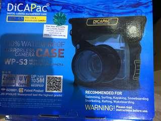 Underwater case for larger mirrorless camera