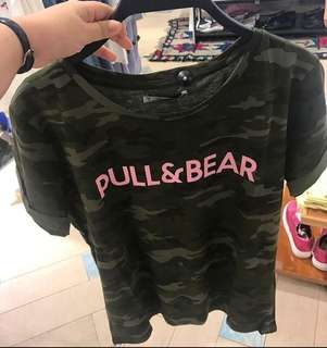 Pull & Bear Tshirt Army Not Ori
