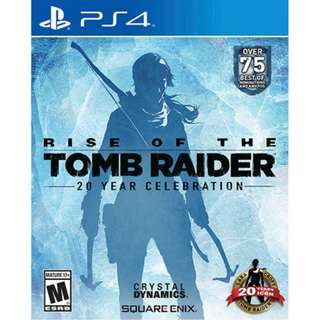 PS4 Rise of the Tomb Raider Definitive Edition 20 Year Celebration