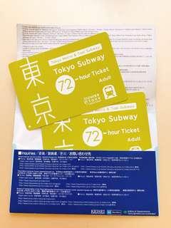 🚚 東京地鐵券 72小時