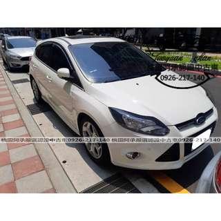 【FB搜尋桃園阿承】福特 超人氣FOCUS 2015年 2.0 白色 二手車 中古車