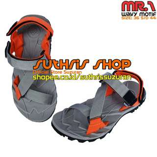 Sandal Gunung Suzuran Edge x Mr1 Grey w Grey Orange
