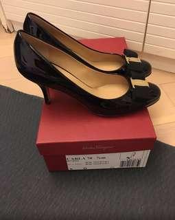 Ferragamo shoes, black, size 6D