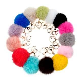 Fluffy 8 cm Furball Keychain