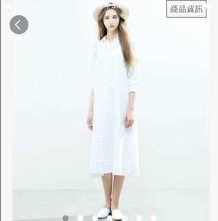 🚚 出清❗️Meier Q 清新感可調肩帶格紋連身洋裝 連身裙 吊帶裙