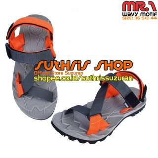 Sandal Gunung Suzuran Edge x Mr1 Grey w Dark Grey Orange