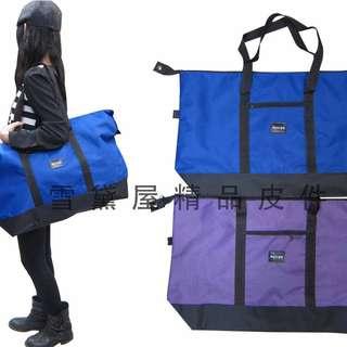 ~雪黛屋~AUYOD 肩背購物袋旅行袋收納摺疊袋簡單袋超輕大容量防水尼龍布材質#2311