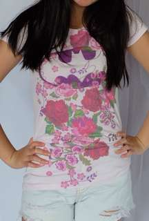 Kaos body fit pink lucu