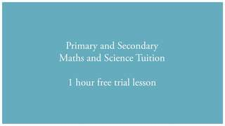 Secondary and Primary Tuition