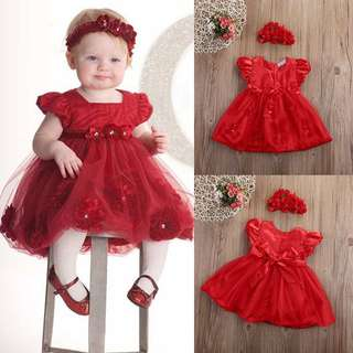 GOWN RED ~READY STOK~ #raya