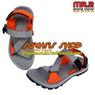 Sandal Gunung Suzuran Edge x Mr2 Grey w Grey Orange