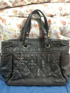 2nd Chanel Biarritz Grey tote
