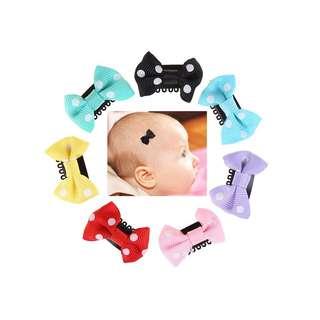 10pcs infant baby Mini Hair clips all black