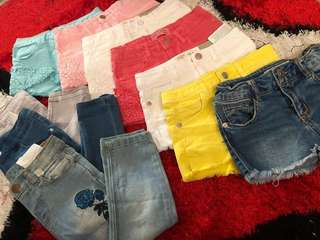 Kids and girls sexy shorts / pants