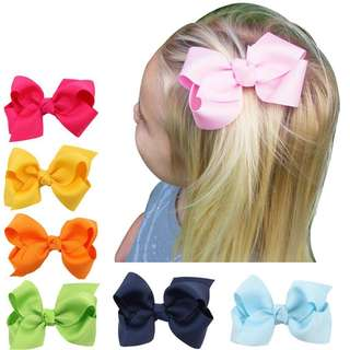 20pcs Kids Hair Bow Hairpin Ribbon