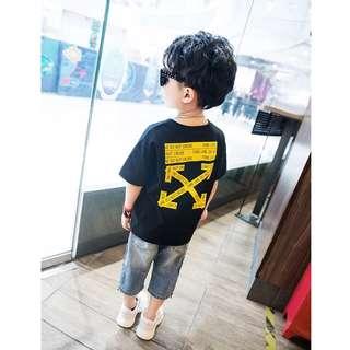 《預購》兒童個性短袖T恤夏裝新款韓版破洞潮款短袖T恤男童裝