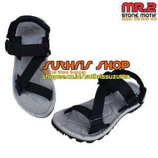 Sandal Gunung Suzuran Edge x Mr2 Grey w Black