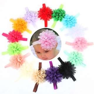 10pcs.Flower Hair Band baby Girl Toddler