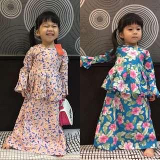 DRESS PEPLUM FLORAL ~READY STOK~ # raya