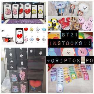 [WTS/SECURED] OFFICIAL BT21 MERCH MAIN LISTING + Griptok PO!!