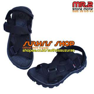 Sandal Gunung Suzuran Edge x Mr2 Full Black