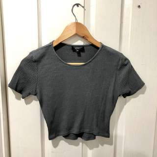 Topshop Crop Top grey and white