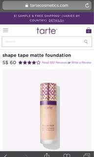 Tarts Shape Tape Matt Foundation