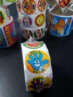 [INSTOCK] BN Roll of High 5 Reward/Merit Stickers (Oriental Trading)